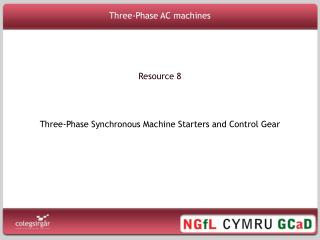 Three-Phase AC machines