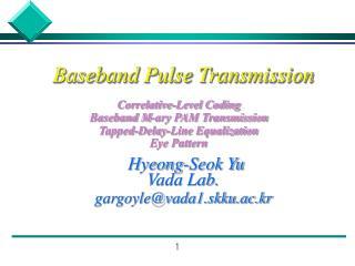 Baseband Pulse Transmission