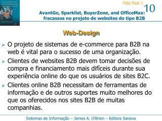 O projeto de sistemas de e-commerce para B2B na web é vital para o sucesso de uma organização.