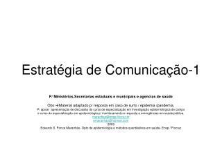 Estrat�gia de Comunica��o-1
