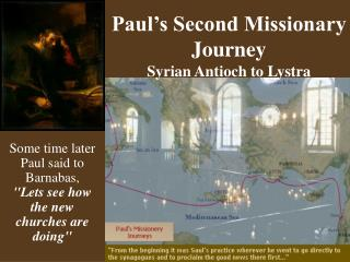 Paul's Second Missionary Journey Syrian Antioch to Lystra