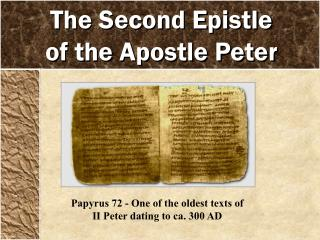 The Second Epistle of the Apostle Peter