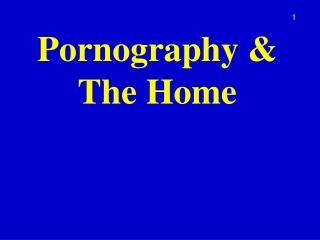 Pornography & The Home
