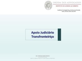 JOEL TIMÓTEO RAMOS PEREIRA Juiz de Direito de Círculo