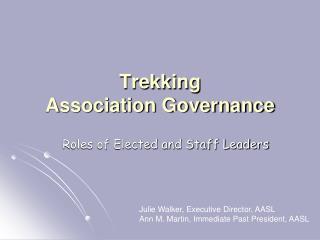 Trekking  Association Governance