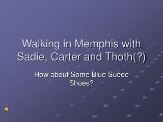 Walking in Memphis with Sadie, Carter and Thoth(?)