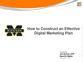How to Construct an Effective Digital Marketing Plan