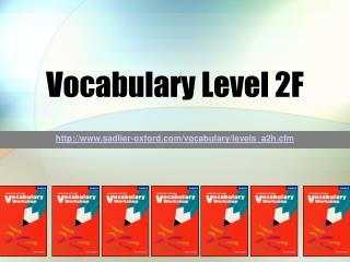 Vocabulary Level 2F