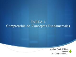 TAREA 1. Comprensi�n  de  Conceptos Fundamentales