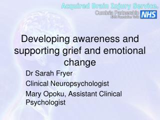 Developing awareness and supporting grief and emotional change