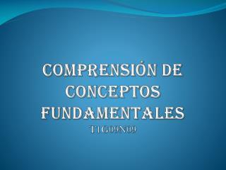 comprensión de Conceptos Fundamentales T1 G09N09