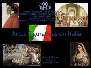 Artes Figurativas en Italia