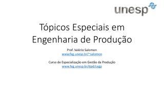 Tópicos Especiais em Engenharia de Produção