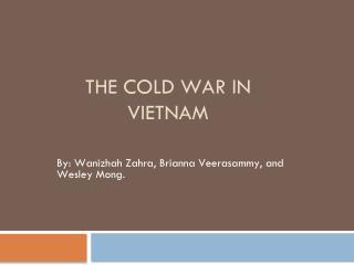 The cold war in       vietnam