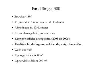 Pand Singel 380