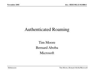 Authenticated Roaming