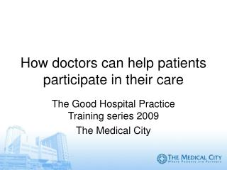 How doctors can help patients participate in their care