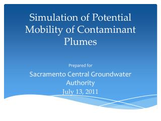 Simulation of Potential Mobility of Contaminant Plumes