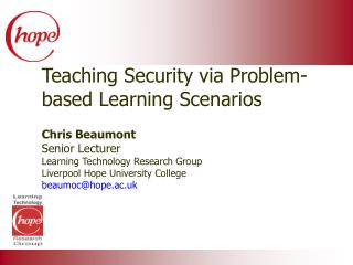 Teaching Security via Problem-based Learning Scenarios
