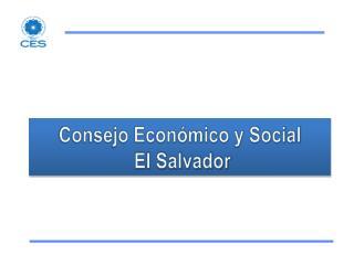 Consejo Económico y Social   El Salvador