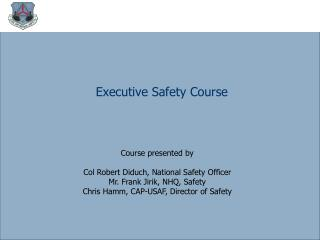 Executive Safety Course