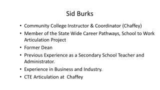 Sid Burks