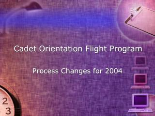 Cadet Orientation Flight Program