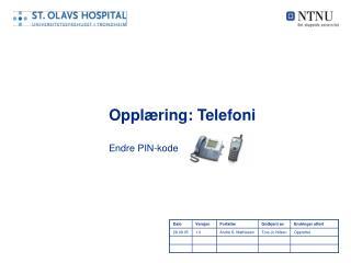 Opplæring: Telefoni
