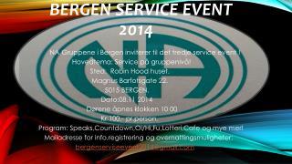 BERGEN  SERVICE EVENT   2014
