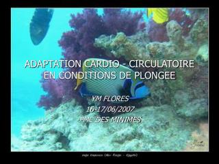 ADAPTATION CARDIO - CIRCULATOIRE EN CONDITIONS DE PLONGEE