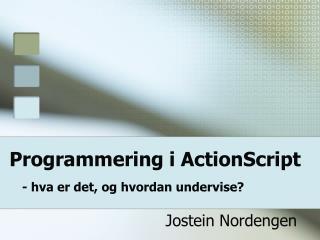Programmering i ActionScript - hva er det, og hvordan undervise?