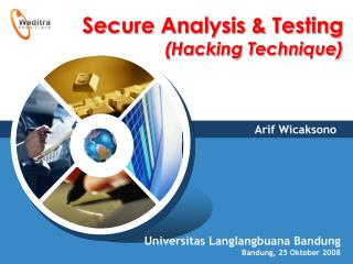 Secure Analysis & Testing  (Hacking Technique)