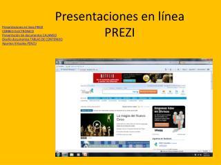 Presentaciones en  línea PREZI
