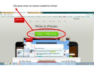 Clic para crear un nuevo cuaderno virtual