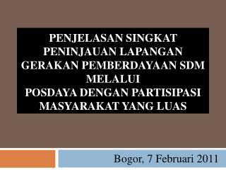 Bogor, 7 Februari 2011
