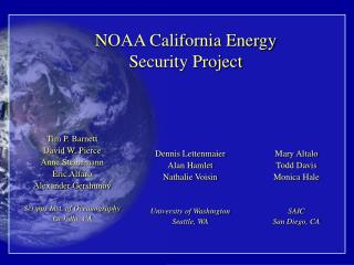 NOAA California Energy Security Project