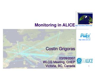 Monitoring in ALICE