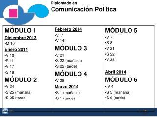 Diplomado en Comunicación Política
