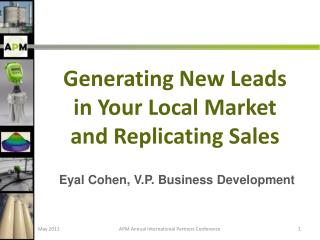 Eyal  Cohen, V.P. Business Development