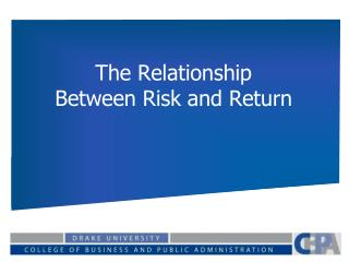 risk and return relationship ppt