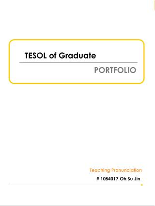 TESOL of Graduate