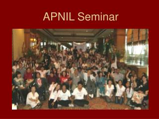 APNIL Seminar