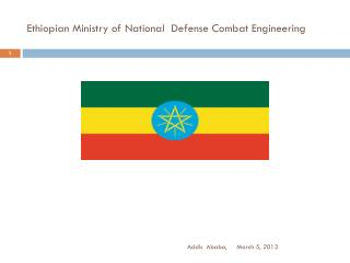 Ethiopian Ministry of National  Defense Combat Engineering