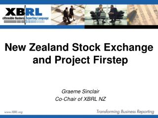 New Zealand Stock Exchange  and Project Firstep