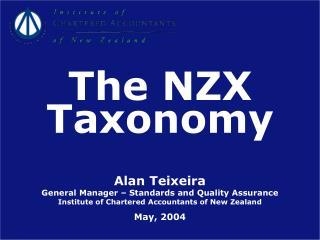 Alan Teixeira General Manager – Standards and Quality Assurance