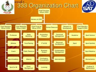 333 Organization Chart