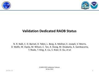 Validation Dedicated RAOB Status