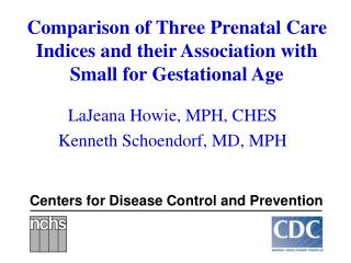 Comparison of Three Prenatal Care Indices and their Association with Small for Gestational Age