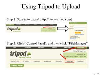 Using Tripod to Upload