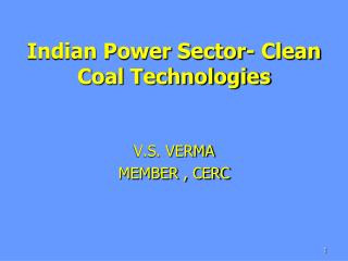 Indian Power Sector- Clean Coal Technologies